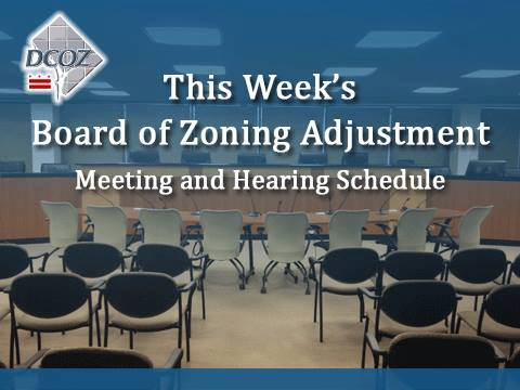 Board of Zoning Adjustment Meeting and Hearing Schedule