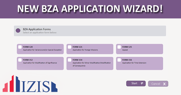 BZA Forms Updates