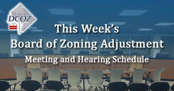 BZA Hearing and Meeting Schedule
