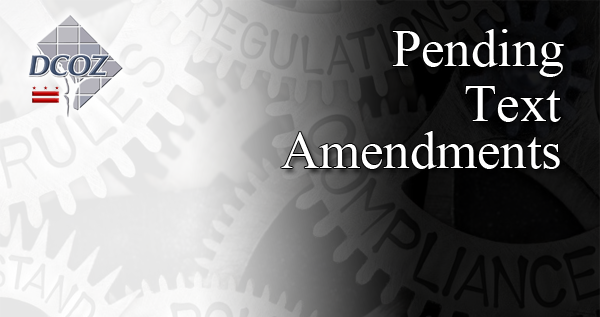 Pending Text Amendments