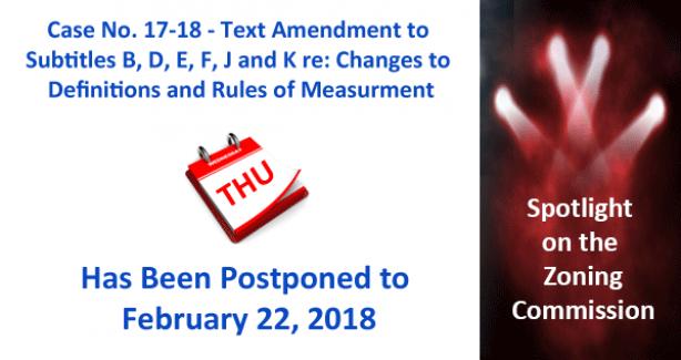 ZC Case 17-18 Postponed