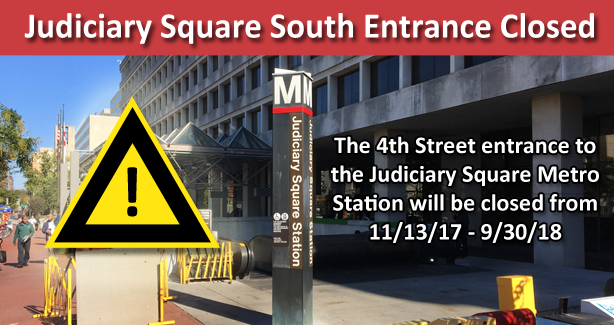 Judiciary Square Metro Entrance Closed